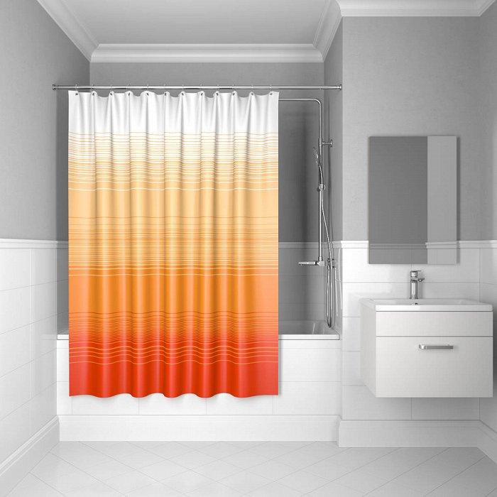 Штора для ванной комнаты IDDIS Horizon 200*200 см Orange Horizon (300P20RI11)