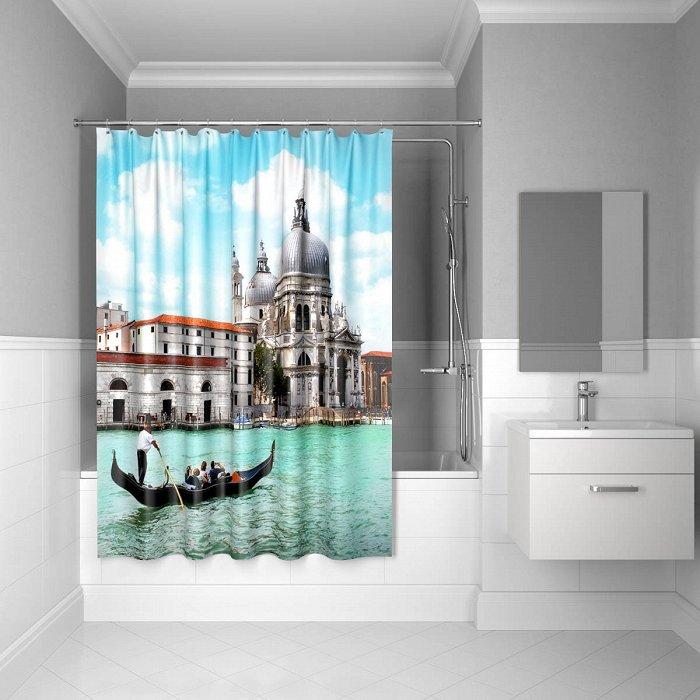 Штора для ванной комнаты IDDIS Venice moments 180*200 см полиэстер