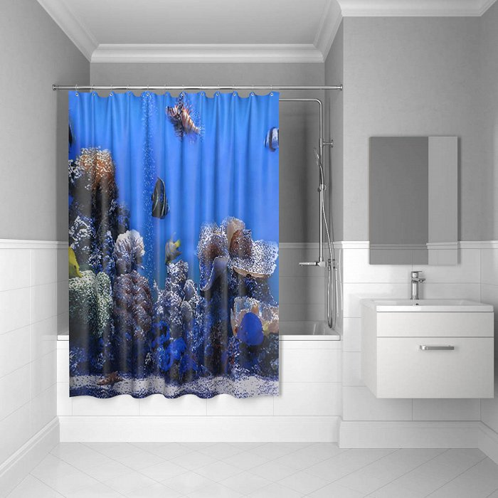 Штора для ванной комнаты IDDIS Pacific Ocean 200*180 см pacific ocean