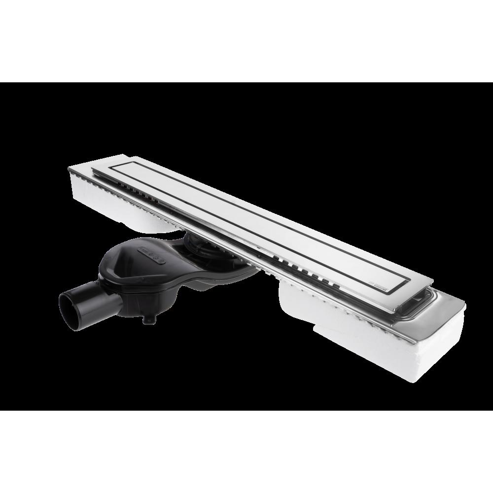 Желоб BERGES водосток TOP Stark 800, хром глянец, S-сифон D50 H60 боковой