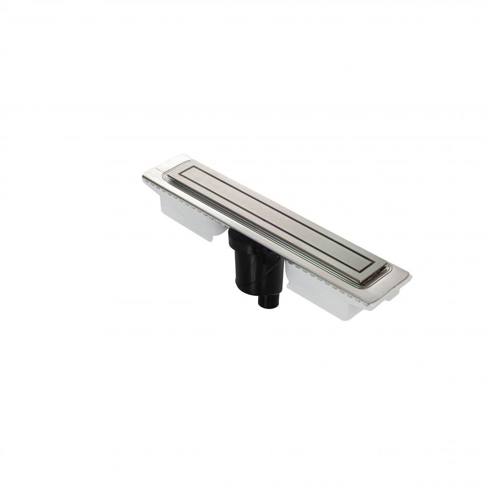 Желоб BERGES водосток TOP Stark 500, матовый хром, S-сифон D50/105 H50 вертикальный