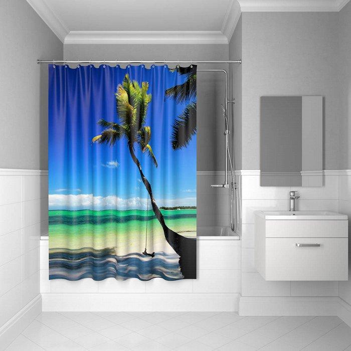 Штора для ванной комнаты IDDIS Maldivian 180*200 см полиэстер