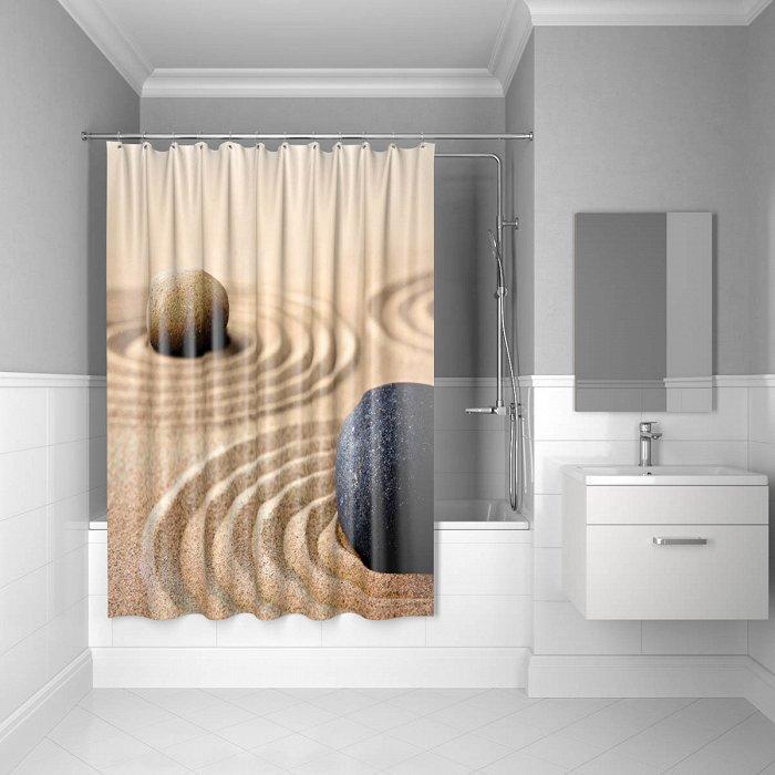 Штора для ванной комнаты IDDIS Sandy 180*200 см полиэстер