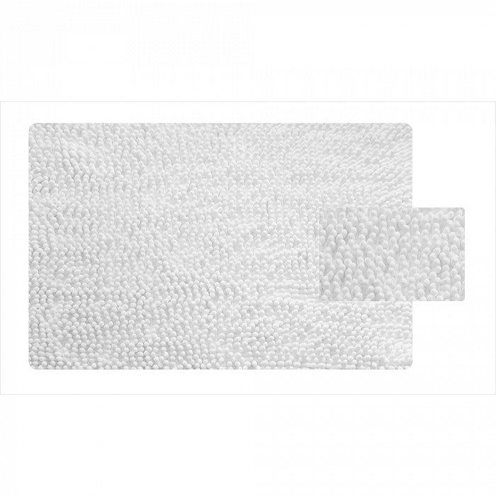 650M580i12, Коврик для ванной комнаты, 50*80 см, микрофибра (шенилл), White Leaf, ID