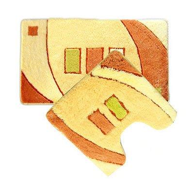 MID090AS, gold sands, Набор ковриков для ванной комнаты, 50*80+50*50 см, акрил, ID