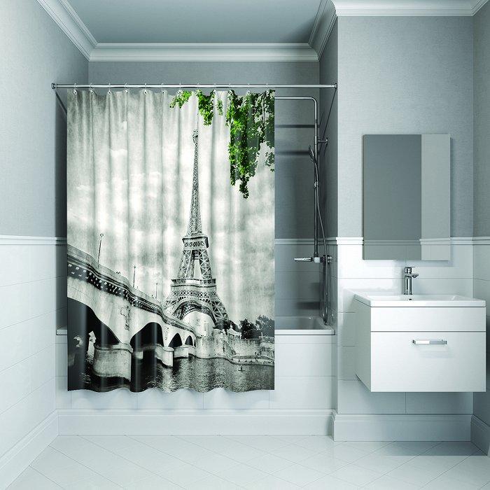 Штора для ванной комнаты IDDIS Paris days 180*200 см полиэстер