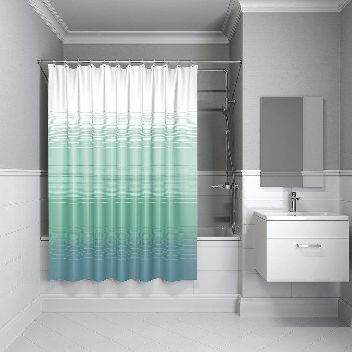 Штора для ванной комнаты IDDIS Horizon 200*200 см Blue Horizon (301P20RI11)