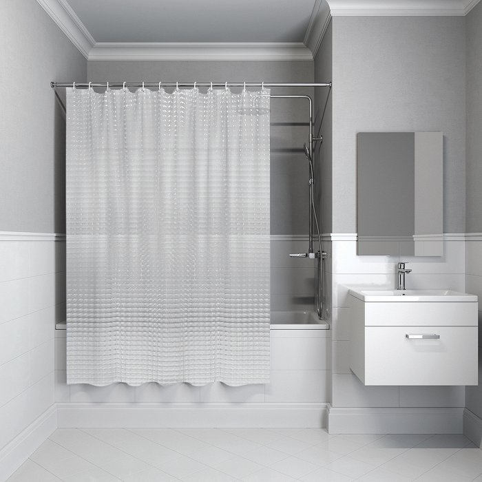 Штора для ванной комнаты IDDIS Stereo Square 200*180 см EVA