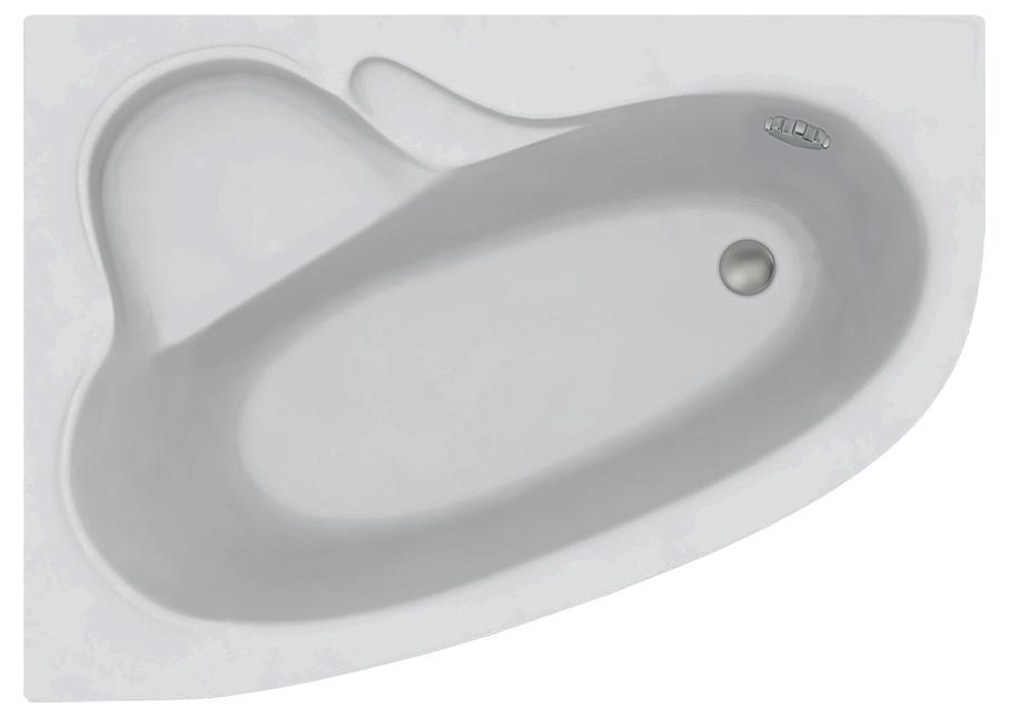 Акриловая ванна C-Bath Atlant CBA00101L 140 х 100 см, белая