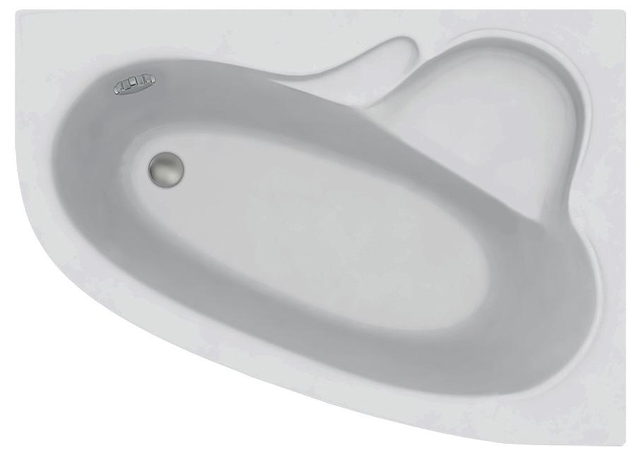 Акриловая ванна C-Bath Atlant CBA00101R 140 х 100 см, белая