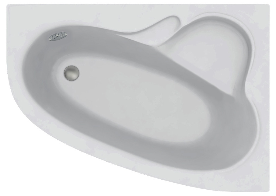 Акриловая ванна C-Bath Atlant CBA00104R 170 х 110 см, белая