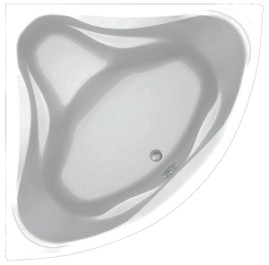 Акриловая ванна C-Bath Aurora CBS001003 140 х 140 см, белая