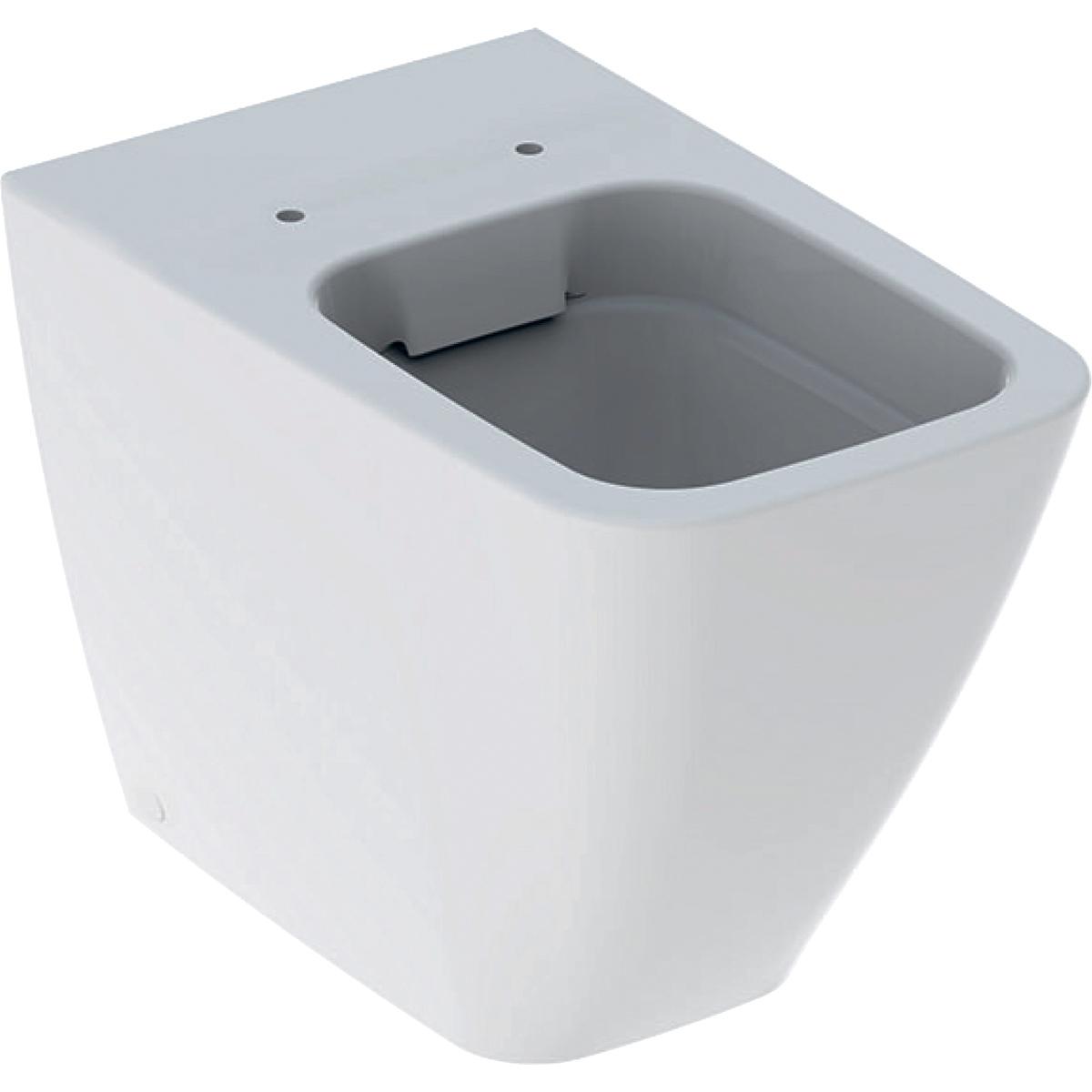 Geberit iCon Square Унитаз напольный приставной безободковый Rimfree® 6 л
