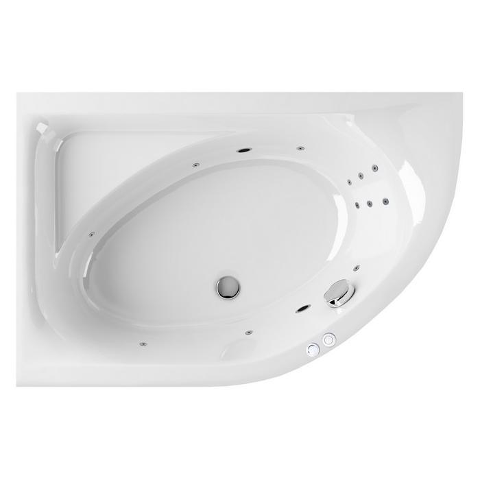 "Ванна EXCELLENT Aquarella 1700x1100 L ""LINE"" (хром)"