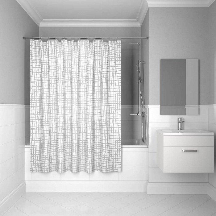 Штора для ванной комнаты IDDIS Gauze 200*180 см Silver Gauze (341P20RI11)