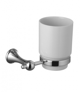 Стакан керамический для зубных щеток с настенным держателем Lemark Standard